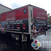 When you need your fleet wrapped, let Signs for Success design, print, laminate, install your wrap
