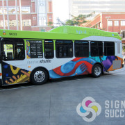 Bus Wrap with 3M vinyl, printed, cut and installed in Spokane and Spokane Valley