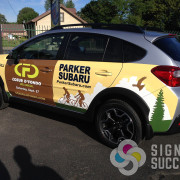 Parker Subaru sponsored the Coeur d'Fondo event, and Stuart Advertising in Spokane designed this great wrap