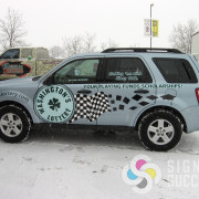 We printed and cut this wrap for Washington State Lottery, Spokane and Otis Orchards, car decals spokane