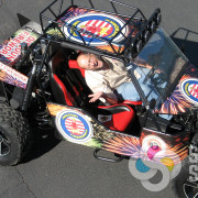 Discount Fireworks in Oroville asked us to wrap their dune Buggy, we made a custom design and template and wrapped in spokane