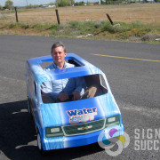 Fleet graphics included this Moses Lake Gocart go cart used in parades by JRCC in Spokane