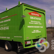 We can do reflective vinyl, cut or printed on your Spokane or Deer Park box truck