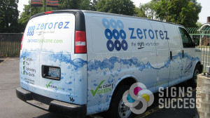 Signs for Success can do the whole wrap from design to finish on your vehicle and fleet, contractor vehicle graphics