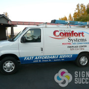 A wrap on your van doesn't have to cover the whole thing, even a partial wrap will add custom advertising to your vehicle