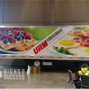 Food Truck wraps-URM semi trailer advertising wrap