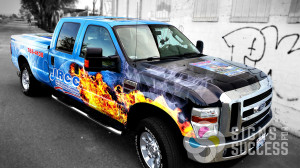 JRCC wanted a wrap for their pickup that really stood out and spoke about restoration, Signs for Success delivered, vehicle wraps Chewelah