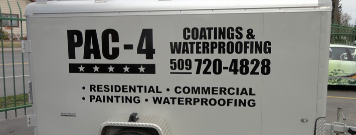 Letter or wrap your trailer to match the rest of your fleet for consistent advertising in Spokane and Greenacres