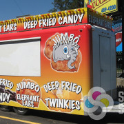 Sell more at fairs and events with an attractive, custom concession trailer wrap designed by Signs for Success in Spokane