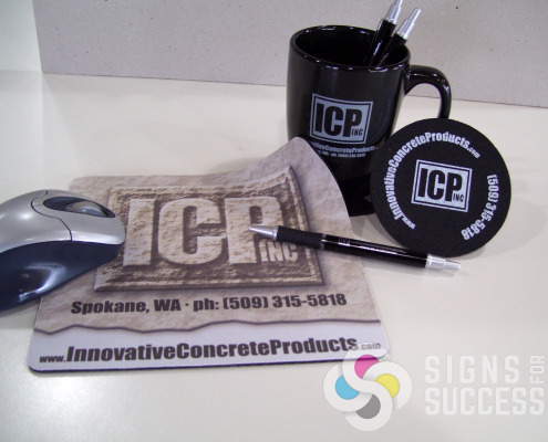 Many products put together as a package for clients, customers and prospects for Talisman Construction and Innovative Concrete Products in Spokane