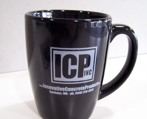 Mugs and coffee cups make great, useful tools for the team, or as giveaways to top customers, put together in a great package of logo items by Signs for Success