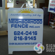 Sidewalk sign or a-frame, Signs for Success in North Spokane carries a variety