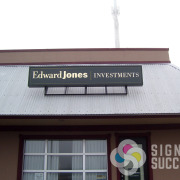 Edward Jones Investments in Spokane needed a tenant building sign face replaced with their company information, Signs for Success did that fast