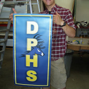 Deer Park High School shows school pride with Pole Banners made fast by Signs for Success in Spokane and Deer Park