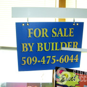 Contractors and realtors use yard signs for construction projects, they can be displayed with frame or step stake in Spokane