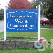 Independent Wealth in Spokane Valley liked both designs so much they put a different design on each side of this post sign