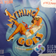 When Anything Goes was produced at the INB Performing Arts center in Spokane, this Backdrop banner made a great photoshoot