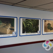 Spokane Industries takes some great photos of their processes for interior signs in their halls, printed on PVC solid plastic by Signs for Success