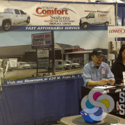 For Spokane Comfort Systems, Signs for Success takes care of all their sign and vehicle wrap needs, with this tradeshow backdrop display too