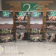 Retractable Banner Stand for 2nd Harvest