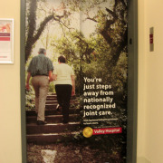 Elevator wrap for Spokane Valley Hospital, Allegra advertising, installed by Signs for Success Spokane