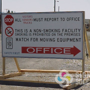 Show drivers where to go on your facility property with a great site sign, many materials to choose from