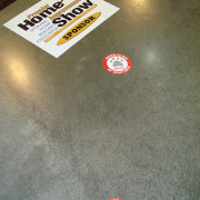 Grocerty Stores can add temporary decals to the floor and can remove them a few hours or days or weeks later with no residue, call Signs for Success for your floor decal sticker needs
