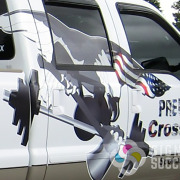 Predation Crossfit pickup truck wrap; custom truck wrap design by Signs for Success