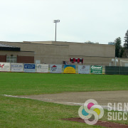 Baseball banners for High Schools and Middle Schools can help both the advertisers and the teams, outdoor banners Mead