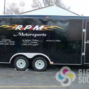 Adding your advertising as cut vinyl or a wrap can make this black trailer look great in Spokane, Spokane Valley, and Coeur d'Alene
