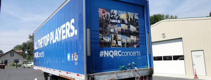 We wrapped all four sides and the roof of this refer trailer for Northern Quest Casino Concert venue in Spokane and Airway Heights