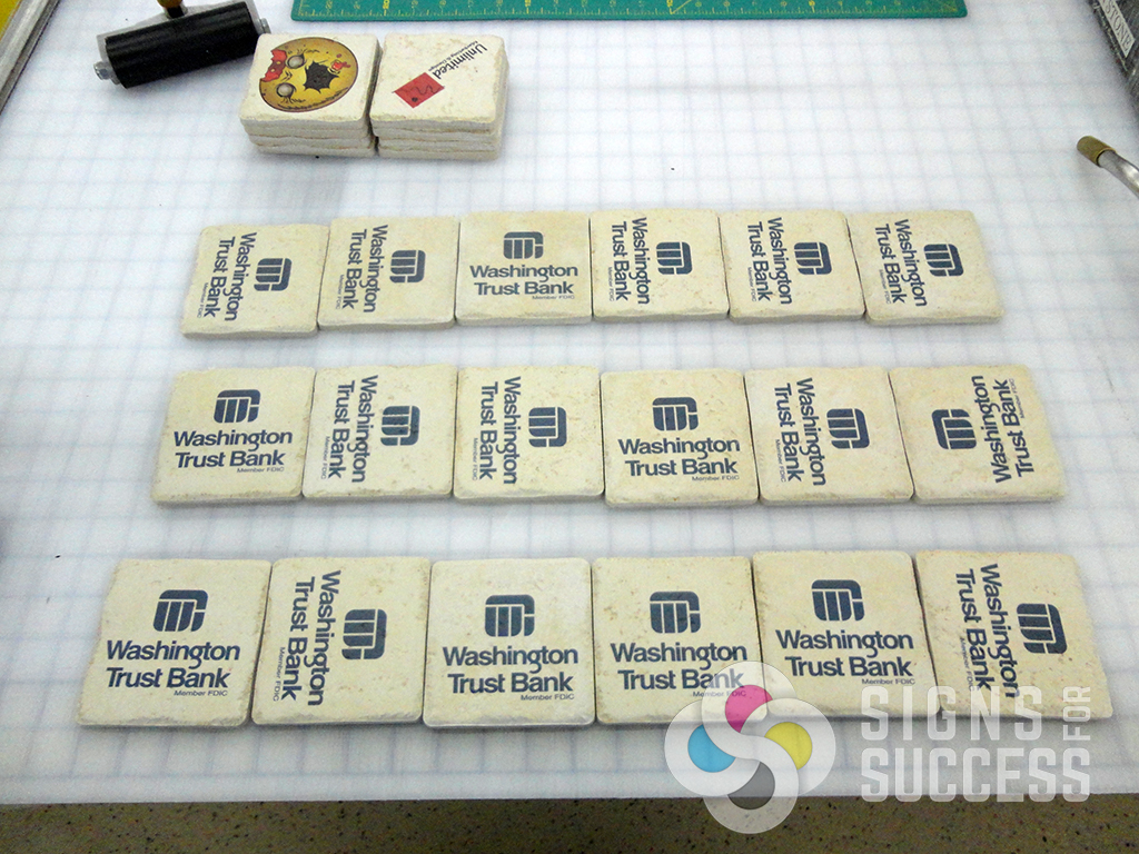 custom tile coasters signs for success