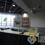 This banner for the Golf Show event in Spokane and Spokane Valley works year after year