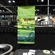 This gorgeous banner is ready for its retractable stand and will be a popup banner for the next tradeshow