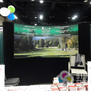 Backdrop for trade show display by Signs for Success for Chewelah Golf and Country Club, Spokane and Deer Park