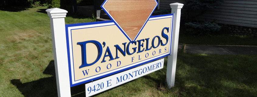 D'angelos Wood Floors in Spokane Valley asked Signs for Success to update their post sign, looks great!