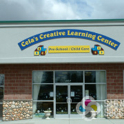When Cela'sCreative Learning Center Pre school and Child care wanted a unique building wall sign on a budget, Signs for Success came up with this great one on ACM