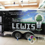 Lewis Construction wanted a wrap that would really grab your attention, Signs for Success delivered with this great design and certified wrap in North Spokane