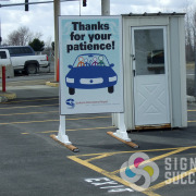 While construction at Airway Heights Spokane International Airport was happening, they needed some temporary signs for parking, by Signs for Success