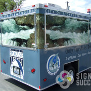 When City of Spokane Water System needed a wrap on their trailer, we stepped up and took care of this one, you see it at many events around Spokane and Spokane County
