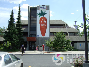 This large banner was made and hung by Signs for Success in Spokane and Liberty Lake, vinyl banners spokane