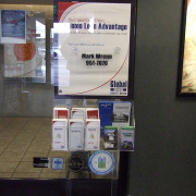 Home Loan Advantage Global Credit Union poster in Spokane for advertising that is affordable and easily changed