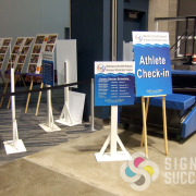 Wayfinding, event, easel, yard signs for VA Wheelchair Games in Spokane were made by Signs for Success, we did them fast and you can call now