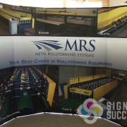 Trade show display for Metal Rollforming Systems is the best choice in Sign company, with Spokane's own Signs for Success