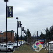 Mead High School added these pole banners out on Hastings in North Spokane Mead area, by Signs for Success