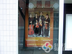 Spokane String Quartet poster at Spokane Symphony by Signs for Success call now if you need only one large poster or hundreds, custom posters fast