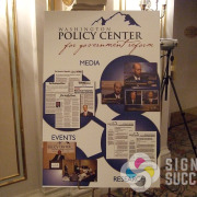 Washington Policy Center needed new easel posters for their Annual Dinner, showing their effectiveness in Spokane and the state, done fast Signs for Success