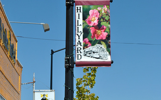 Community areas can update their look by adding seasonal pole street banners in Hillyard, Garland, Perry, East Spokane districts