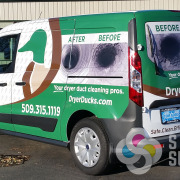 Great, unique advertising design by Signs for Success for Dryer Ducks in Spokane, Custom vehicle, van, car, auto, wrap, wraps done fast