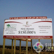 Large post and panel sign takes many sheets of material, but looks like a billboard in Pasco and Kennewick by Signs for Success